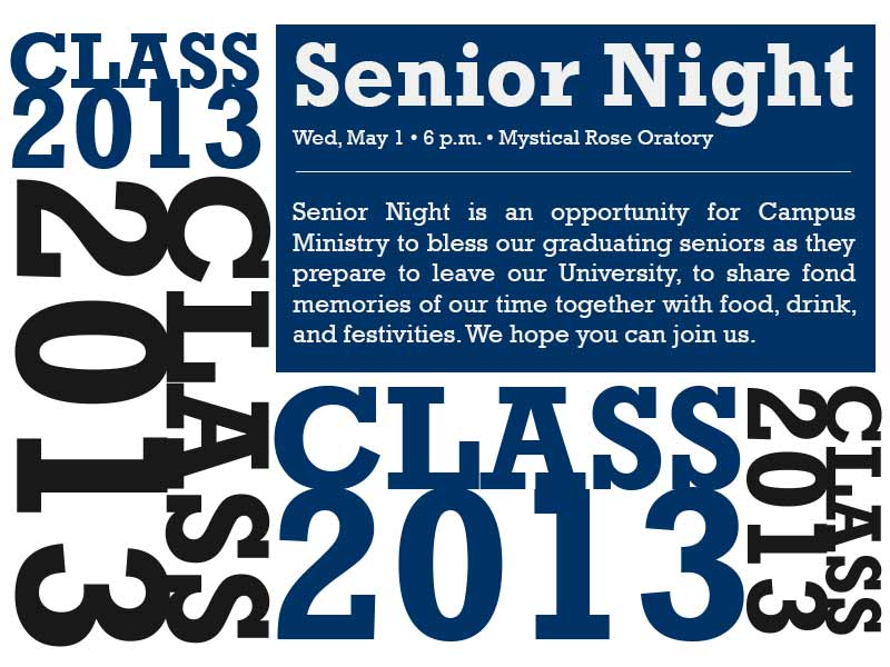 2013 Spring Senior Night